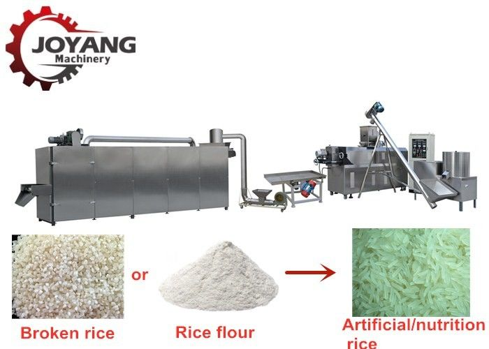 Industrial Artificial Rice Making Machine Twin Screw Extruder Model CE Approved